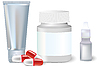 Vector clipart: medicine bottle and pills