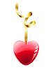 Векторный клипарт: красное сердечко