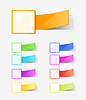 Векторный клипарт: набор цветовых меток