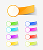 Vector clipart: set of colour labels