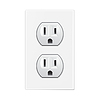 Vector clipart: white socket