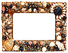 Frame for photo from marine cockleshells | Stock Foto