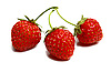 Three ripe strawberries | Stock Foto