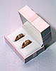 Photo 300 DPI: two wedding rings in pink box