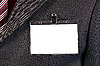 Photo 300 DPI: empty ID card badge on suit
