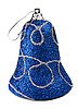 Photo 300 DPI: blue new-year handbell