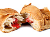 Photo 300 DPI: croissant with the strawberry filling