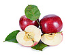 ID 3042530 | Red apples with green leaves | High resolution stock photo | CLIPARTO