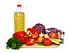 Photo 300 DPI: sunflower seed oil and vegetables