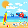 Vector clipart: beach on sea