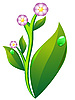 Vector clipart: plant with flower and leaf