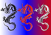 Vector clipart: dragons