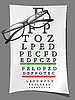 Vector clipart: eye charts and glasses