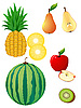 Vector clipart: fruits