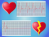 Vector clipart: heart rate pulse