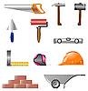 Vector clipart: icons of building tools