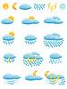 Icons von Wetter