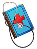 Vector clipart: medical book and stetoskop