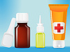 Vector clipart: medical bottles