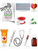 Vector clipart: icon medical set