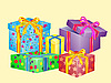 Vector clipart: much boxes for gifts