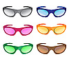 Vector clipart: much colors sunglasses