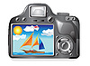 Vector clipart: photo camera andphotography