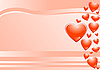 Vector clipart: pink background and hearts