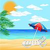 Векторный клипарт: Море и пляж