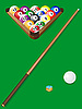 Vector clipart: set for billiards