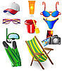 Vector clipart: set from beach