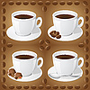 Vector clipart: set of icons of cups with coffee