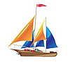 Vector clipart: ship with sails