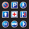 Vector clipart: signs of road