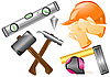 Vector clipart: construction tools