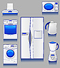 Vector clipart: appliances for kitchen