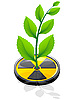 Vector clipart: green plant growing on radiation sign