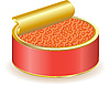 Vector clipart: red caviar