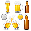 Vector clipart: set of beer