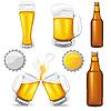 Векторный клипарт: Набор пива