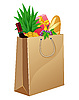 Vector clipart: shopping bag with foods