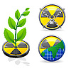Vector clipart: sign radiation and ecology