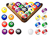 Balls for billiards | Stock Illustration