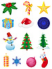 Christmas and new year icons | Stock Illustration