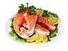 Steaks of red fish with lemon and parsley | Stock Foto