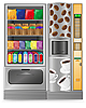 Vector clipart: vending coffee and snack machine