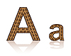 Vector clipart: letter A of coffee beans