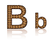 Vector clipart: letter B of coffee beans