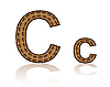 letter C of coffee beans