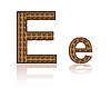 Vector clipart: letter E of coffee beans